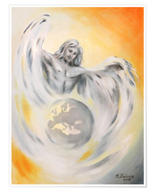 Premiumposter  Guardian angel world peace - Marita Zacharias