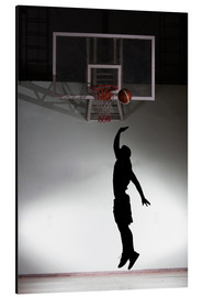 Aluminiumtavla  Silhouette of a basketball player