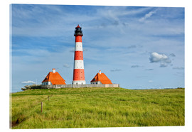 Akrylglastavla  Westerhever Lighthouse, North Sea coast