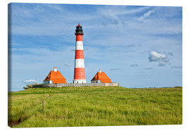 Canvastavla  Westerhever Lighthouse, North Sea coast