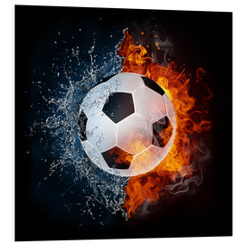 PVC-tavla  Football in the battle of the elements