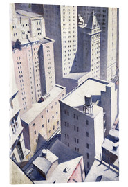 Akrylglastavla  Looking Down on Downtown - Christopher Nevinson