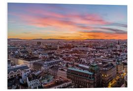 PVC-tavla  Vienna Skyline at sunset, Austria - Mike Clegg Photography