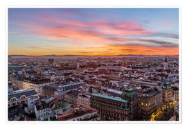 Premiumposter  Vienna Skyline at sunset, Austria - Mike Clegg Photography