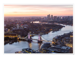 Premiumposter  Colourful sunsets in London - Mike Clegg Photography