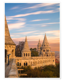 Premiumposter  Fishermans Bastion, Budapest - Mike Clegg Photography