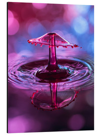 Aluminiumtavla  High-speed water droplets with Bokeh - Stephan Geist