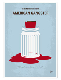 Premium poster No748 My American Gangster minimal movie poster