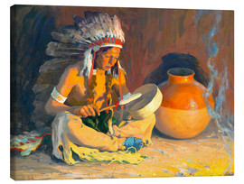 Canvastavla  The chief song - Eanger Irving Couse