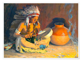Premiumposter  The chief song - Eanger Irving Couse
