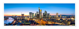 Premiumposter  Skyline panorama from Frankfurt - Jan Christopher Becke