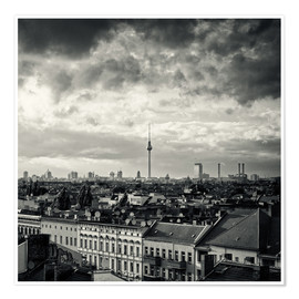 Premiumposter Berlin - Roofscape