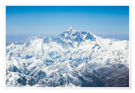 Premiumposter  Aerial view of Mount Everest in the Himalaya - Matteo Colombo
