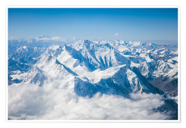 Premiumposter Aerial view of mount Everest, Himalaya