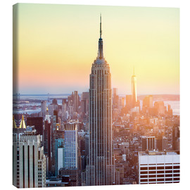 Canvastavla  Empire State Building in New York City at sunset - Jan Christopher Becke