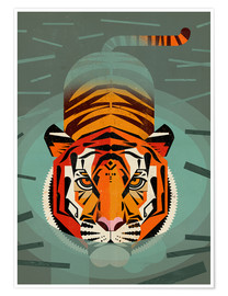 Poster Swimming tiger