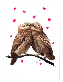 Premiumposter Loving owls