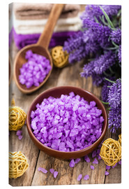 Canvastavla  lavender bath salt