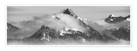 Premiumposter Mountain with Clouds