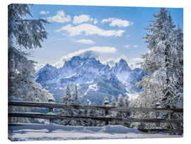 Canvastavla  Winter in the Sesto Dolomites, South tyrol, Italy - Christian Müringer