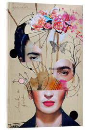 Akrylglastavla  Frida for Beginners - Loui Jover