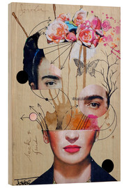 Trätavla  Frida for Beginners - Loui Jover