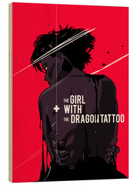 Trätavla  The Girl with The Dragon Tattoo - Fourteenlab