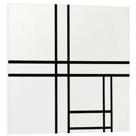 PVC-tavla  Composition in black and white, with double lines - Piet Mondrian