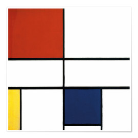 Premiumposter  Composition C (No.III) with Red, Yellow and Blue - Piet Mondriaan