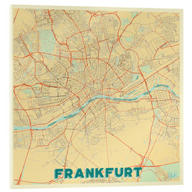 Akrylglastavla  Frankfurt Map Retro - Hubert Roguski