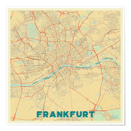 Premiumposter  Frankfurt Map Retro - Hubert Roguski