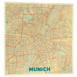 Akrylglastavla  Munich Map Retro - Hubert Roguski