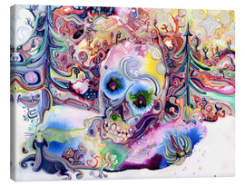 Canvastavla  A Skull in the Forest - Josh Byer