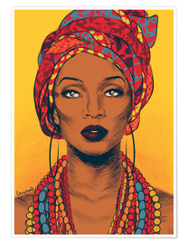 Poster  African tribal woman - Paola Morpheus