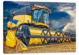 Canvastavla  Harvester in the cornfield - Peter Roder