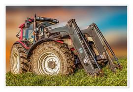 Premiumposter  Tractor with Front Loader - Peter Roder