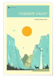 Premiumposter  Yosemite Valley - Jazzberry Blue