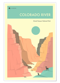 Premiumposter  GRAND CANYON NATIONAL PARK POSTER - Jazzberry Blue
