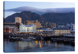 Canvastavla  Table Mountain with 'table cloth' - Catharina Lux