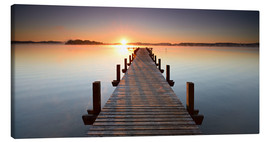 Canvastavla  Footbridge at sunrise - Andreas Vitting