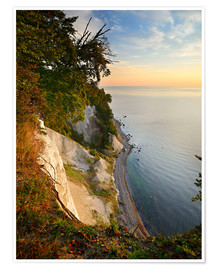 Premiumposter  Chalk cliffs in the morning light - Andreas Vitting