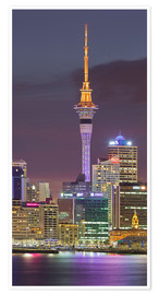 Premiumposter Skyline of Auckland