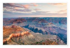 Premiumposter  Sunset over the Grand Canyon south rim, USA - Matteo Colombo