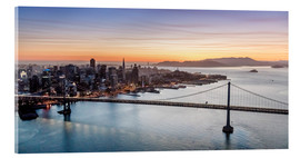 Akrylglastavla  Aerial view of San Francisco at sunset, USA - Matteo Colombo