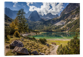 Akrylglastavla  Idyllic mountain lake in the Tyrol mountains (Austria) - Christian Müringer