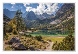 Premiumposter  Idyllic mountain lake in the Tyrol mountains (Austria) - Christian Müringer