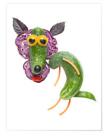 Premiumposter  Vegetable animals - Wolf