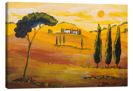 Canvastavla  Sunshine in Tuscany in the Morning - Christine Huwer
