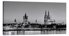 Canvastavla  Magnificent Cologne black and white - Michael Valjak