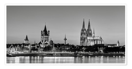 Poster Magnificent Cologne black and white